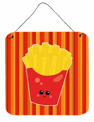 Carolines Treasures  BB7050DS66 French Fries Face Wall or Door Hanging Prints Perspective: front