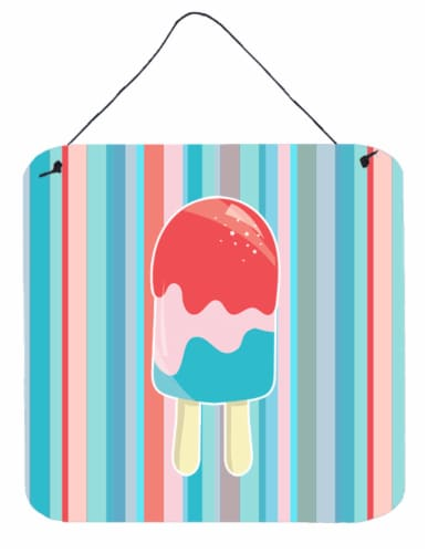 Ice Pop Popsicle Red Pink Blue Wall or Door Hanging Prints Perspective: front