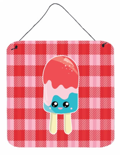 Kroger Ice Pop Popsicle Face Gingham Wall Or Door Hanging Prints 6hx6w