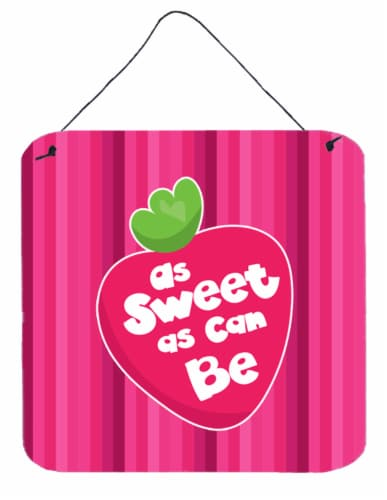 Stawberry As Sweet as Can Be Wall or Door Hanging Prints Perspective: front