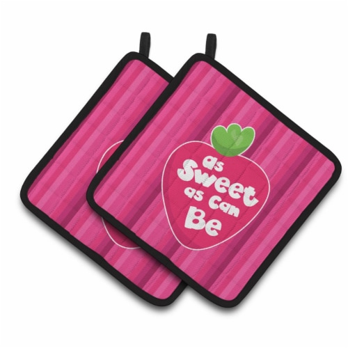 Carolines Treasures  BB7106PTHD Stawberry As Sweet as Can Be Pair of Pot Holders Perspective: front