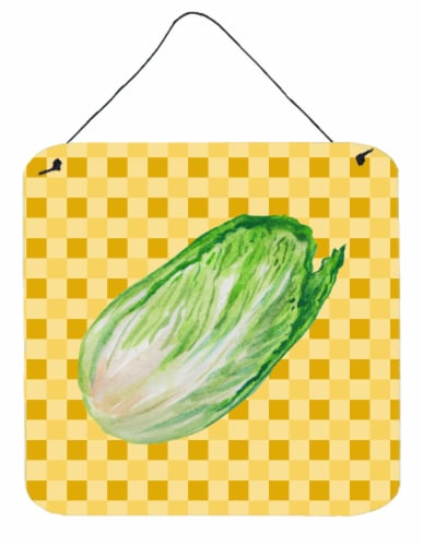 Chinese Cabbage on Basketweave Wall or Door Hanging Prints Perspective: front