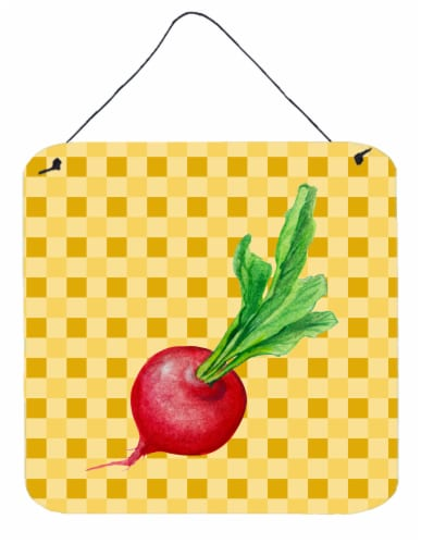 Radish on Basketweave Wall or Door Hanging Prints Perspective: front