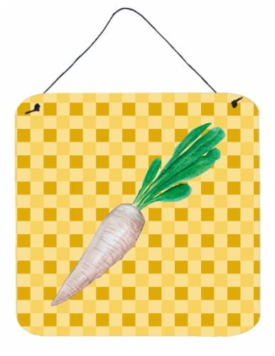 White Radish on Basketweave Wall or Door Hanging Prints Perspective: front