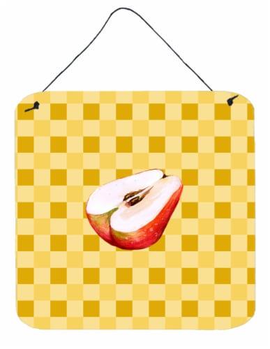 Sliced Apple on Basketweave Wall or Door Hanging Prints Perspective: front