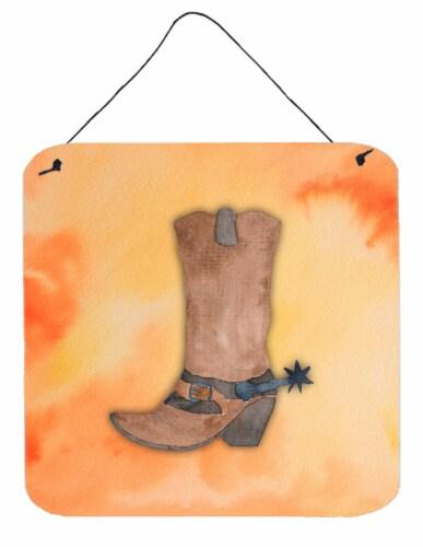Cowboy Boot Watercolor Wall or Door Hanging Prints Perspective: front