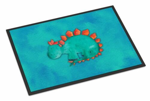 Stegosaurus Watercolor Indoor or Outdoor Mat 24x36 Perspective: front