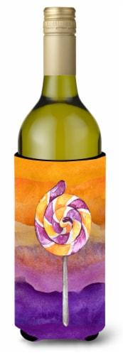 Halloween Sucker Lollipop Wine Bottle Beverge Insulator Hugger Perspective: front