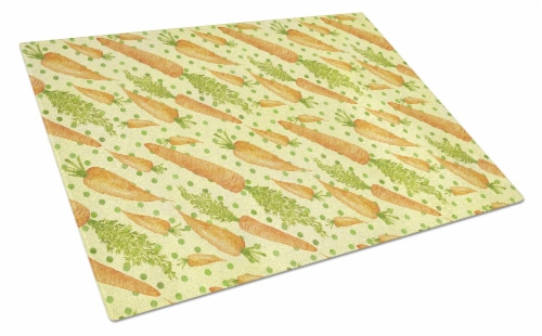 Carolines Treasures  BB7571LCB Watercolor Carrots Glass Cutting Board Large Perspective: front
