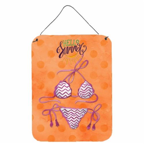 Bikini Swimsuit Orange Polkadot Wall or Door Hanging Prints Perspective: front