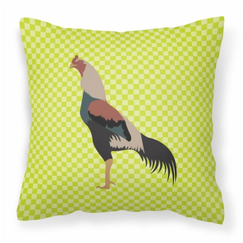 Carolines Treasures  BB7664PW1414 Kulang Chicken Green Fabric Decorative Pillow Perspective: front