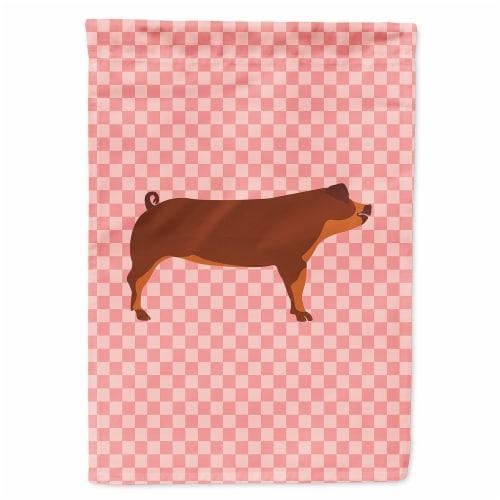 Carolines Treasures  BB7942GF Duroc Pig Pink Check Flag Garden Size Perspective: front