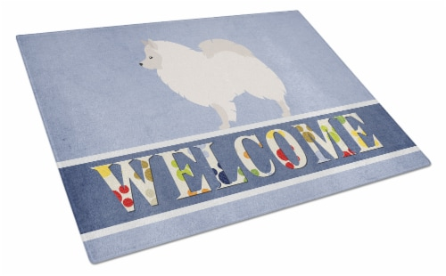 Carolines Treasures  BB8317LCB German Spitz Welcome Glass Cutting Board Large Perspective: front