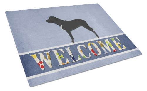 Broholmer Danish Mastiff Glass Cutting Board Large Perspective: front