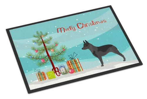 Australian Cattle Dog Christmas Indoor or Outdoor Mat 24x36 Perspective: front