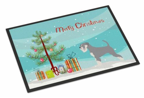 Carolines Treasures  BB8512MAT Schnauzer Christmas Indoor or Outdoor Mat 18x27 Perspective: front