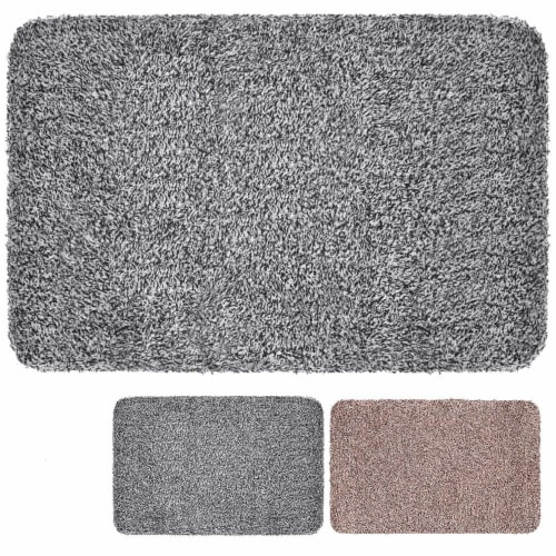 Clean Stepping Mud & Dirt Trap Mat- Gray Perspective: front