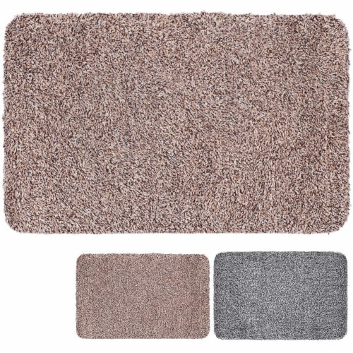 Clean Stepping Mud & Dirt Trap Mat- Tan Perspective: front