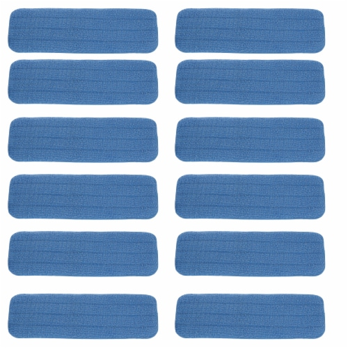 MicroFiber Swivel Mop Pad Refill, 12 pack Perspective: front