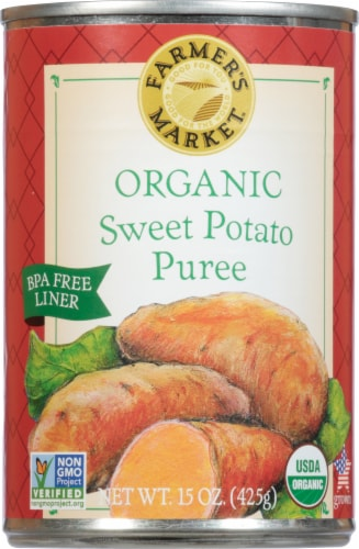 Farmer's Market Organic Sweet Potato Puree Perspective: front