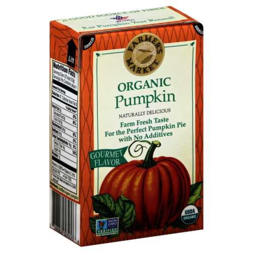 Farmer's Market Organic Pumpkin Puree Perspective: front
