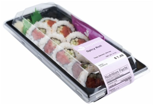 Snowfox Spicy Tuna Salmon Shrimp Roll (NOT AVAILABLE BEFORE 11:00 AM DAILY) Perspective: front