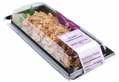 Snowfox California Crunch Roll (NOT AVAILABLE BEFORE 11:00 AM DAILY) Perspective: front