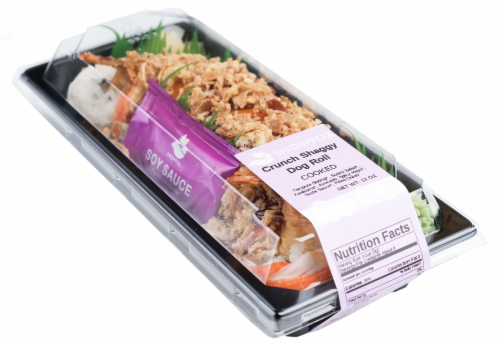 Snowfox Crunch Shaggy Dog Roll (NOT AVAILABLE BEFORE 11:00 AM DAILY) Perspective: front