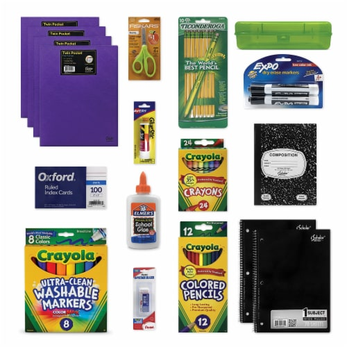 One-Click School Supply Kit for Grades K-2 Perspective: front