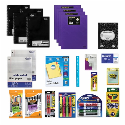 One-Click School Supply Kit for Grades 6-8 Perspective: front