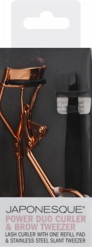 Japonesque Power Duo Curler and Brow Tweezer Perspective: front