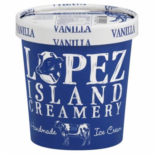 Lopez Island Creamery Vanilla Ice Cream Perspective: front