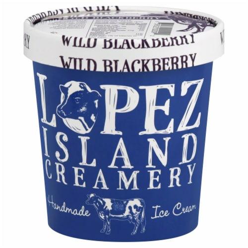 Lopez Island Creamery Wild Blackberry Ice Cream Perspective: front