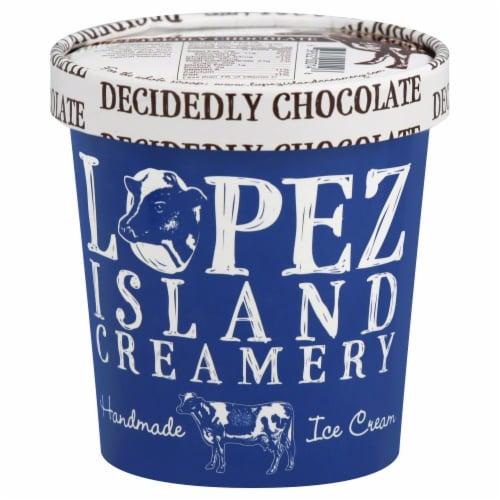 Lopez Island Creamery Decidedly Chocolate Ice Cream Perspective: front