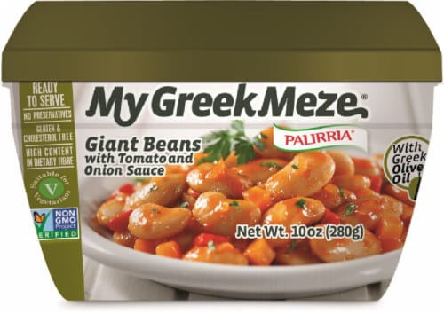 Palirria My Greek Meze Giant Beans with Tomato and Onion Sauce Perspective: front