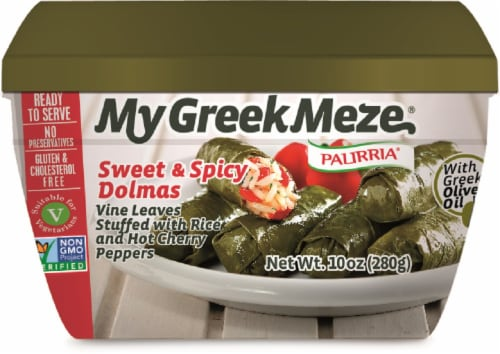 Palirria My Greek Meze Sweet and Spicy Dolmas Perspective: front