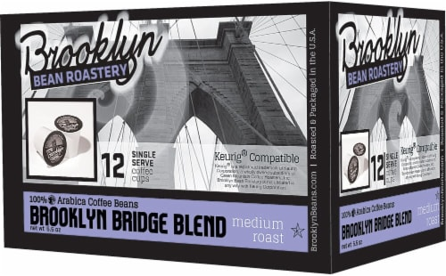 Brooklyn Bean Roastery Brooklyn Bridge Blend Single-Serve Cups Perspective: front
