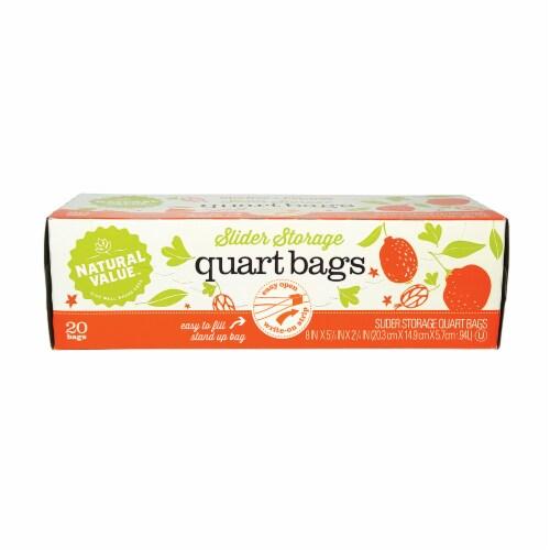 Natural Value Slider Quart Storage Bags / 20-ct. box / 6 Pack Perspective: front