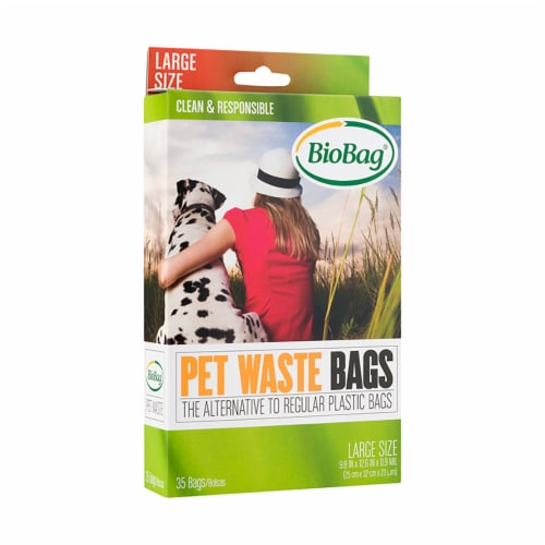 BioBag LARGE Compostable Pet Waste Bags / 420-ct. case Perspective: front