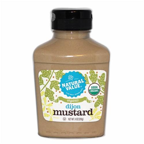 9-oz. Natural Value Organic DIJON Mustard / 6 PACK Perspective: front
