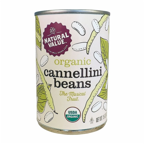 Natural Value Organic Cannellini Beans / 15 oz. cans / 6-pack Perspective: front