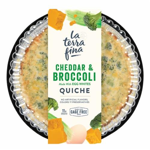 La Terra Fina Cheddar & Broccoli Quiche Perspective: front