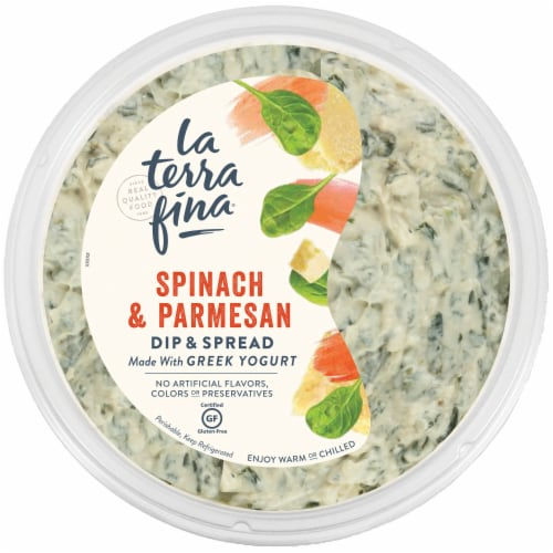 La Terra Fina Greek Yogurt Spinach Parmesan Dip & Spread Perspective: front