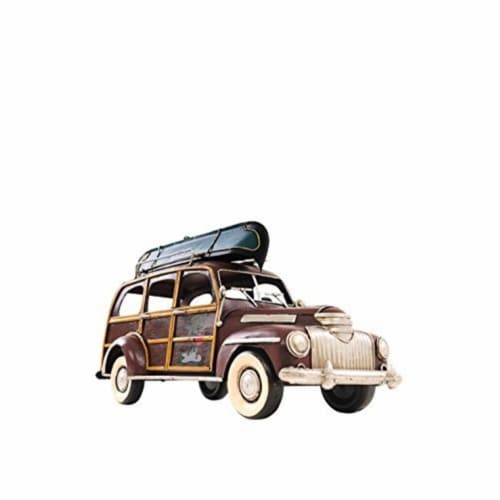 Old Modern Handicrafts AJ017 1947 Chevrolet Suburban with Canoe 1 isto 14 Model Airplane Perspective: front