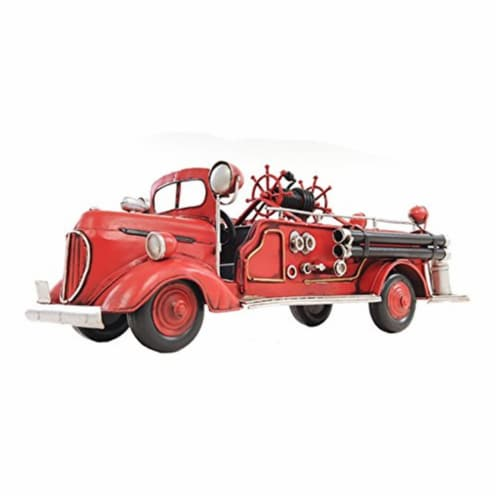 Old Modern Handicrafts AJ020 1938 Red Fire Engine Ford 1:40 Perspective: front