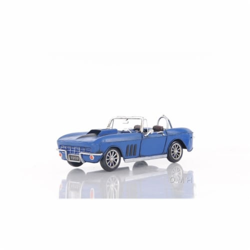 OLD MODERN HANDICRAFTS AJ039 Blue Chevrolet Corvette Sting Ray Sports Car Perspective: front