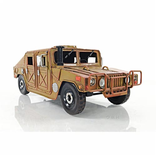 Old Modern Handicrafts AJ058 Humvee Collectible Military Light Truck Perspective: front