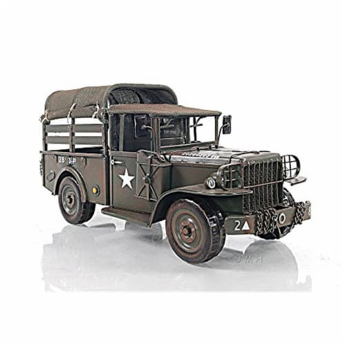 Old Modern Handicrafts AJ059 Vintage Dodge M42 Command, Wood Perspective: front