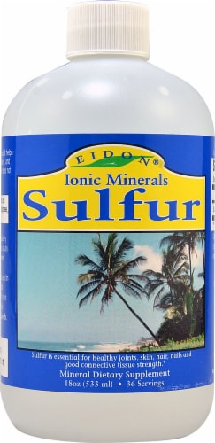 Eidon Ionic Minerals  Sulfur Perspective: front