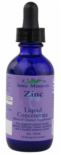 Eidon Ionic Minerals  Zinc Liquid Concentrate Perspective: front